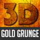 3D Gold Grunge Text Effect
