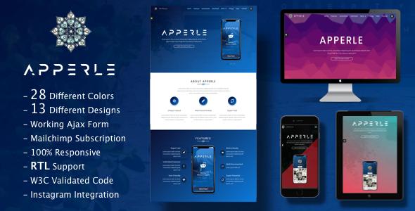 Image of Apperle App Landing Page