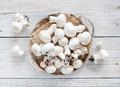 Champignon Mushrooms  on a table