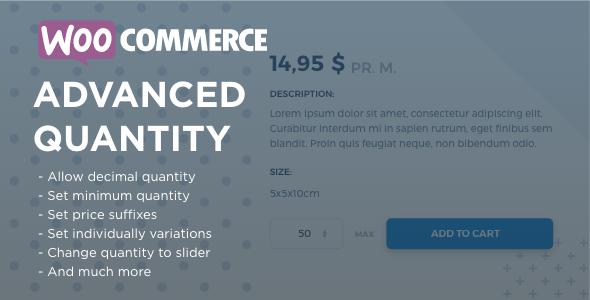 WooCommerce Advanced Quantity - CodeCanyon Item for Sale