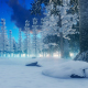 Evening in Snowy Forest - VideoHive Item for Sale