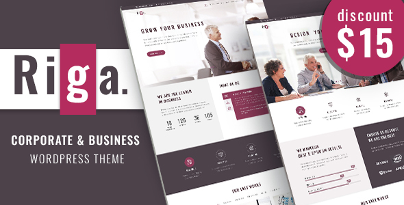 Image of Riga - Business WordPress Theme