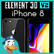 Apple iPhone 8 for Element 3D - 3DOcean Item for Sale