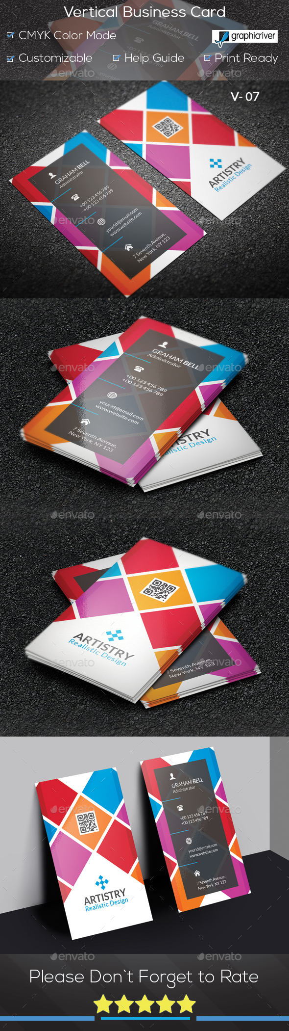 GraphicRiver Vertical Business Card V 07 20847331