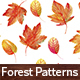 Autumn Watercolor Seamless Patterns Set