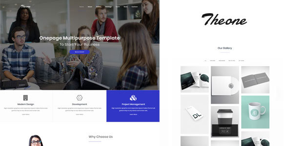 ThemeForest Theone Onepage Multiporpose Template 20847354