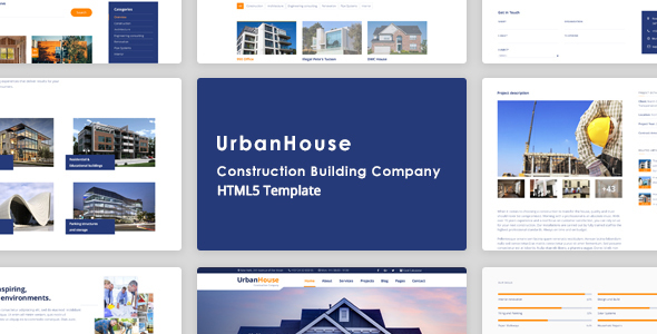 UrbanHouse - Construction Renovation HTML5 Template + SASS