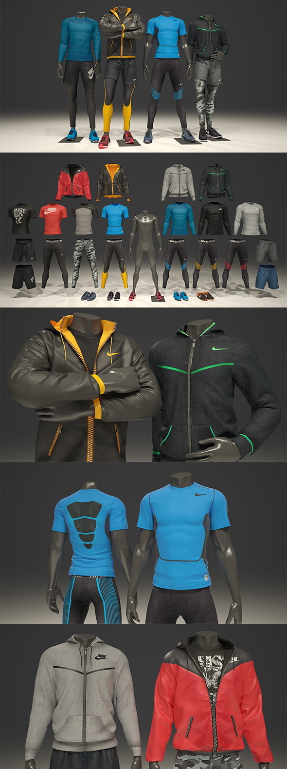 3DOcean Male mannequin Nike pack 1 3D model 20847474