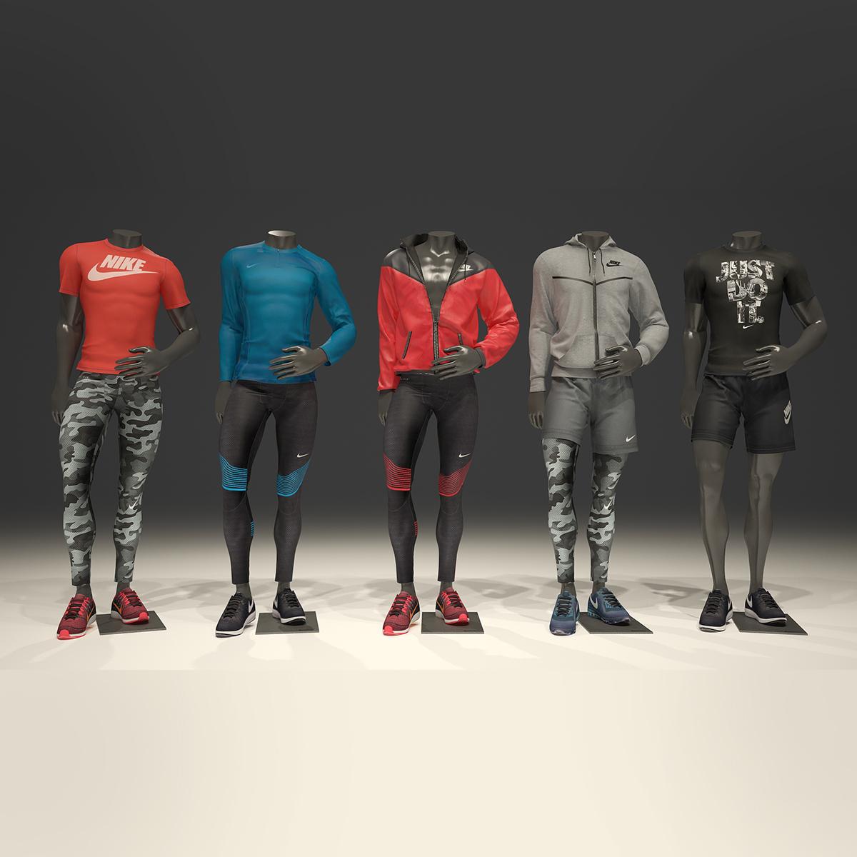 Male Mannequin Nike Pack 1 3d Model By Mrgarret 3docean