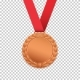 Bronze Medal Isolated on Transparent Background