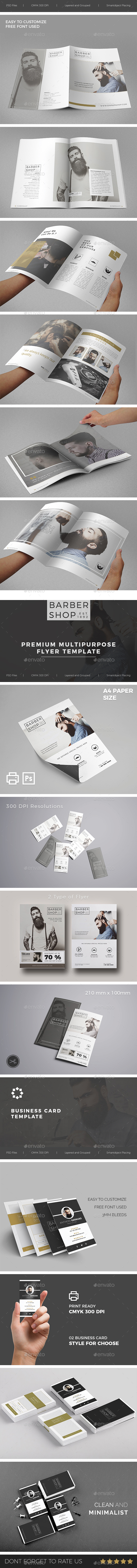 Barbershop Template Bundle - Print Templates