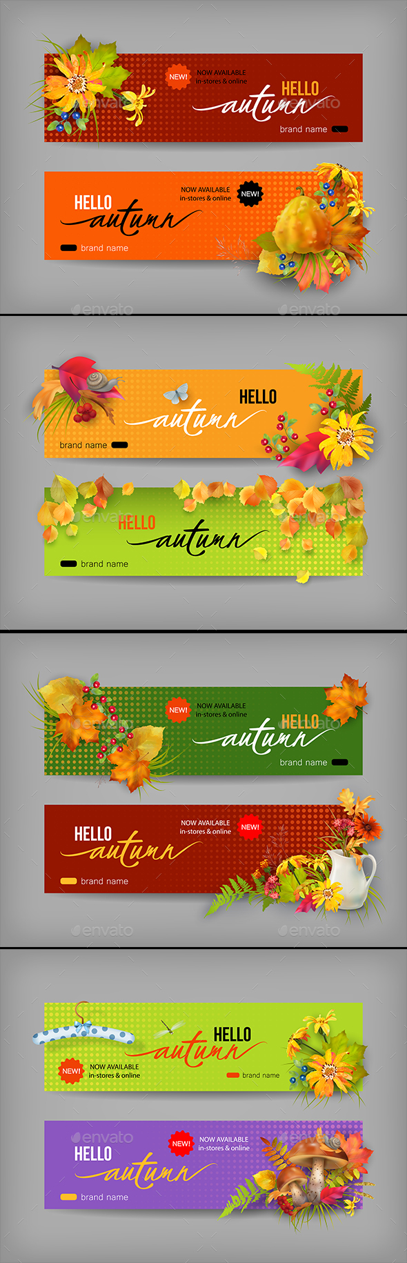 Autumn Advertising Banner - Seasons Nature