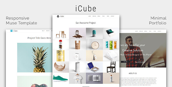 ICUBE_Muse Portfolio Template - Creative Muse Templates