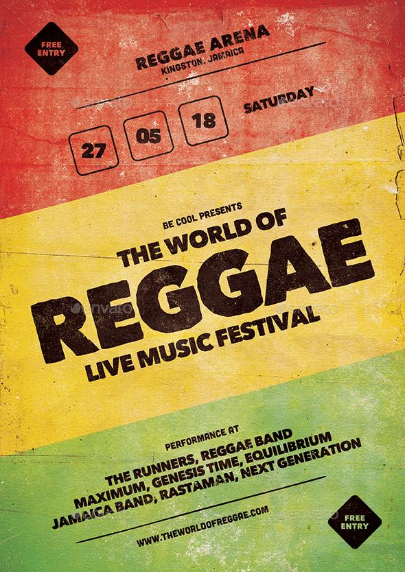 GraphicRiver Reggae Flyer Poster 20847883