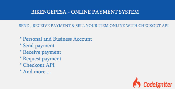 CodeCanyon BIKENGEPESA ONLINE PAYMENT SYSTEM 20796858