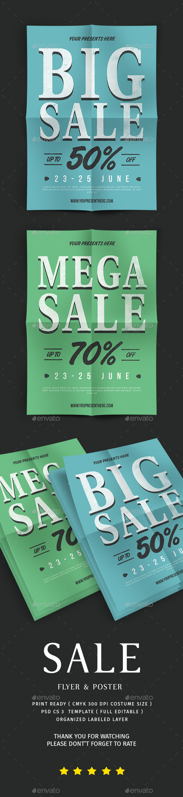 Sale Flyer & Poster - Flyers Print Templates