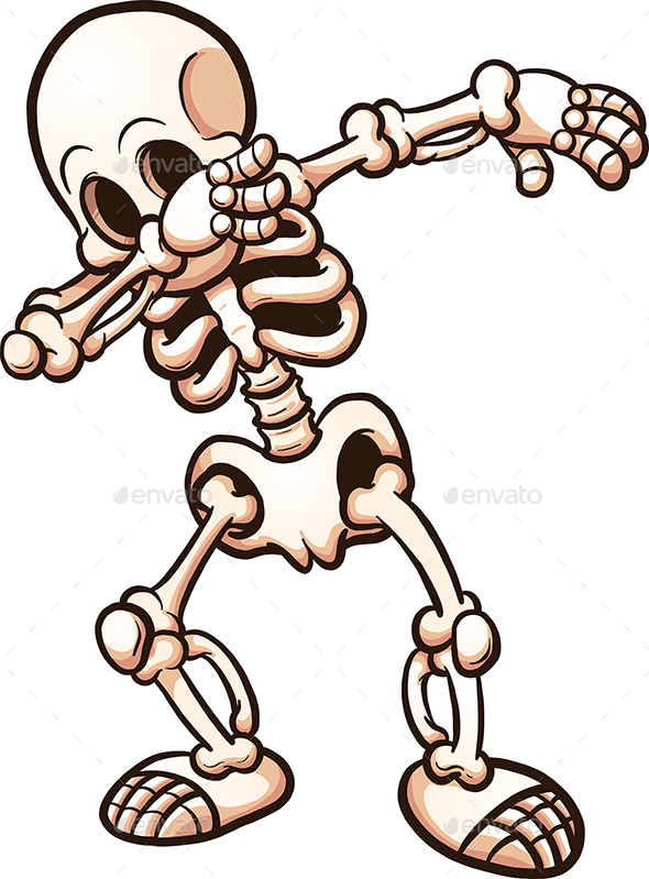 Dabbing Skeleton - Halloween Seasons/Holidays