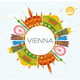 Vienna Skyline with Color Buildings - GraphicRiver Item for Sale