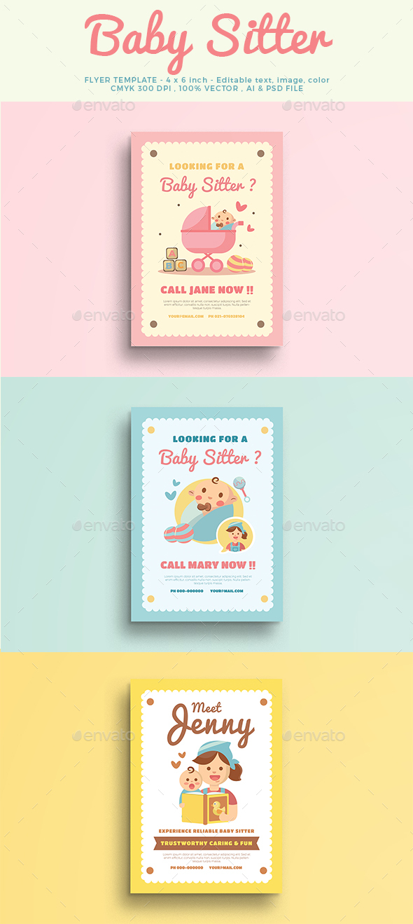 Babysitter Flyer By Vectorvactory Graphicriver