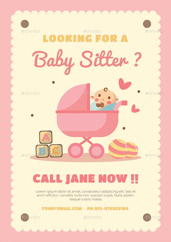 Atemberaubend Babysitter Werbung Vorlage Fotos - Beispiel Business ...