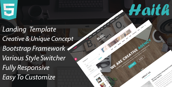 Download Haith || Landing Page Responsive Template