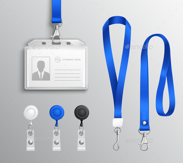 GraphicRiver Identification Card Badge Accessories Set 20848312