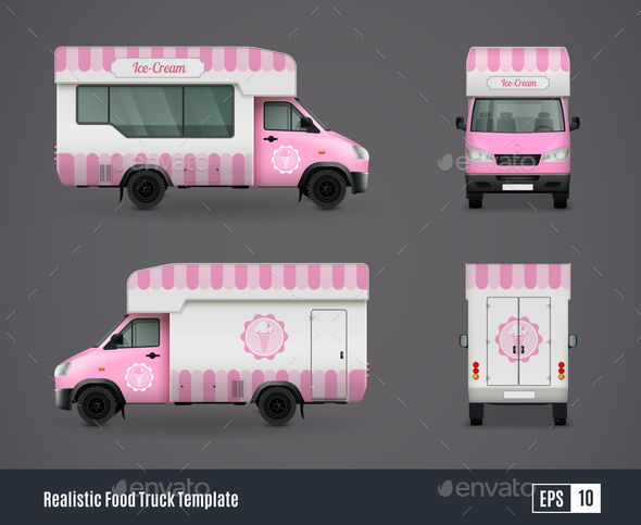 Mr Whippy Van Design - Food Objects