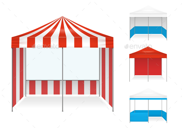 GraphicRiver Tent Examples Realistic Set 20848317