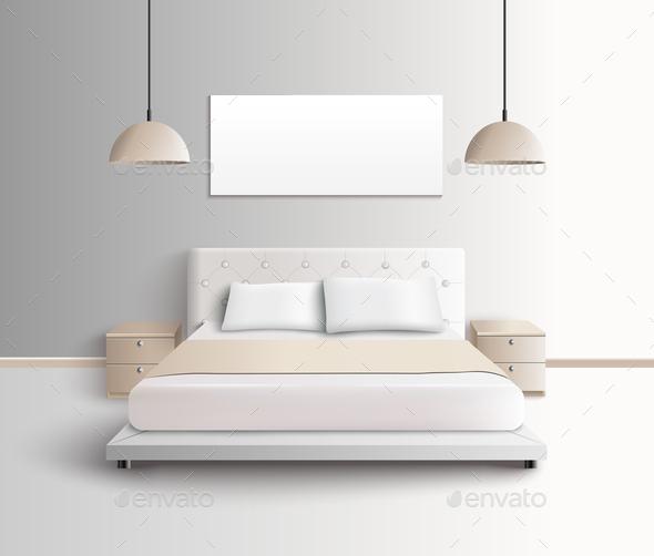 Modern Bedroom Interior Composition - Miscellaneous Vectors