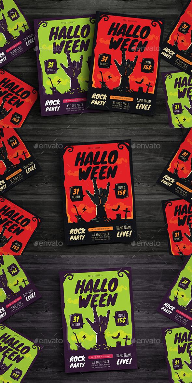 Halloween Rock Flyer - Events Flyers