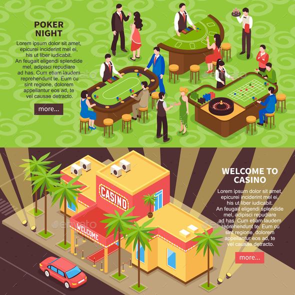 Casino 3D Horizontal Banners - Industries Business