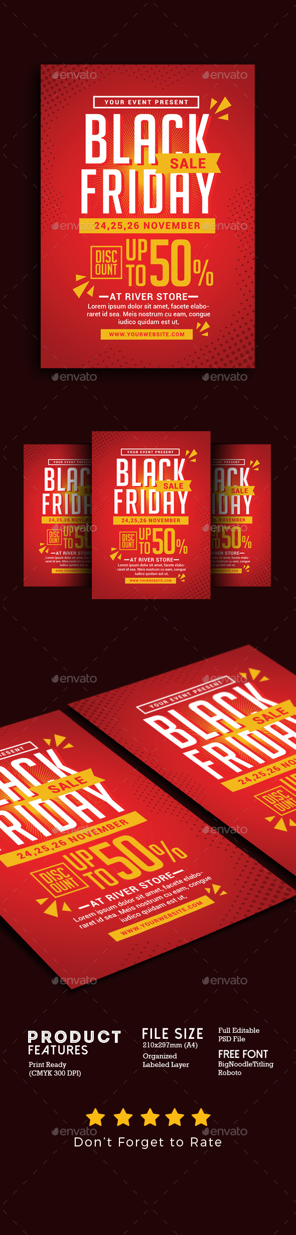Black Friday Sale Flyer 2 - Events Flyers