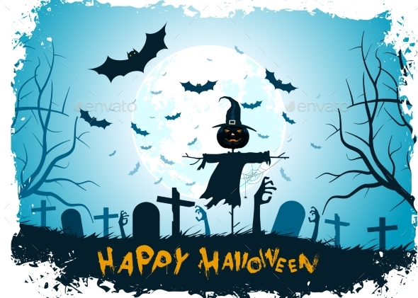 GraphicRiver Grungy Halloween Background 20848424