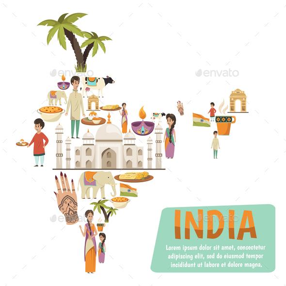 India Map Design Concept - Miscellaneous Vectors