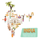 India Map Design Concept