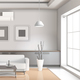 Realistic Living Room Interior Light Tones