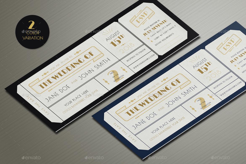 Preview Image/TICKET LETTERPRESS 2 ...  Invitation Ticket
