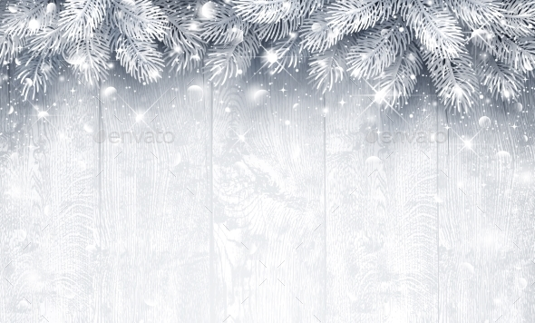 Christmas Silver Background - Christmas Seasons/Holidays