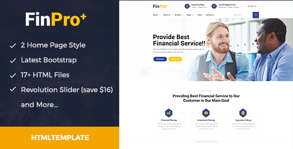 ThemeForest Finpro& Finance and Business template 20848674