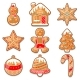 Set of Various Gingerbreads for Merry Christmas - GraphicRiver Item for Sale