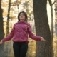 Girl Jumping in the Autumn Forest - VideoHive Item for Sale