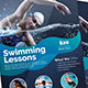 Swimming Lessons Poster & Roll-Up Bundle