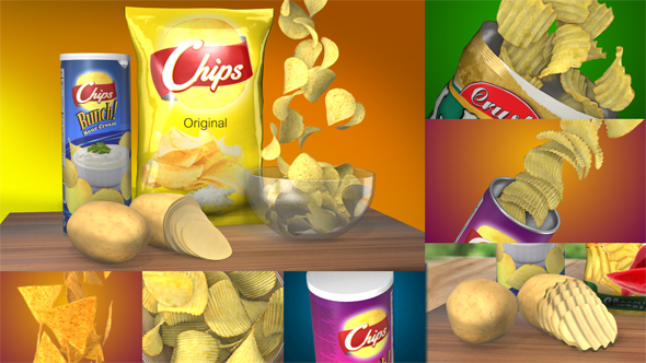 D Chips Commercial Food And Drink After Effects Templates F - After effects commercial template