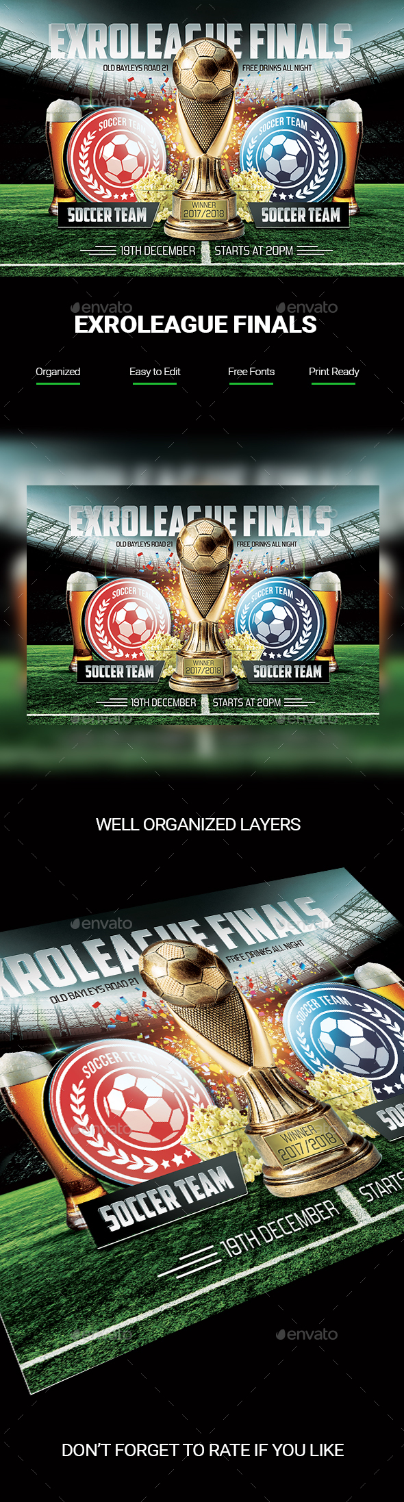 GraphicRiver Soccer Finals Flyer 20849220