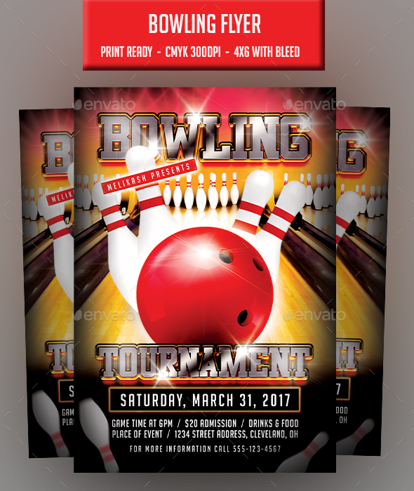 GraphicRiver Bowling Flyer 20849241