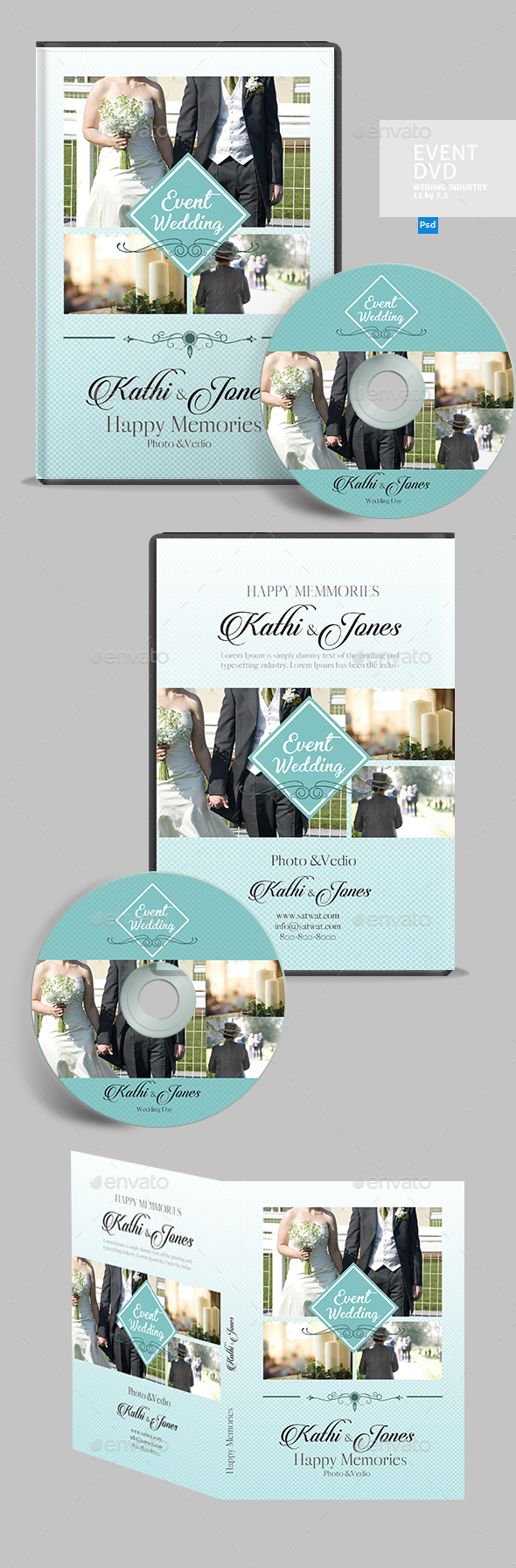 Wedding DVD Cover - CD & DVD Artwork Print Templates