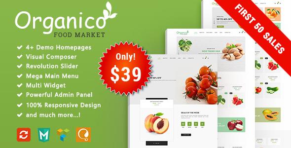 Image of Organico - Fresh Fruits Responsive WooCommerce WordPress Theme