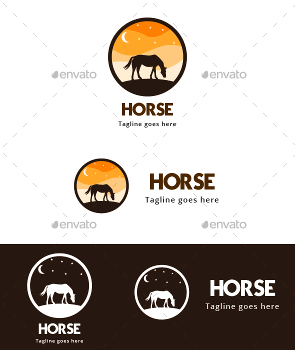 Horse Shadow - Animals Logo Templates