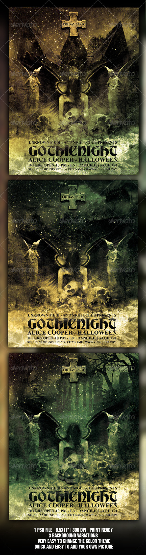 Halloween / Gothic Party Flyer / Poster Template - Clubs & Parties Events