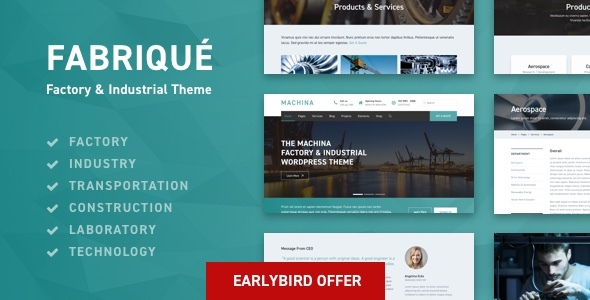 Image of Fabriqué - Factory & Industrial Business WordPress Theme